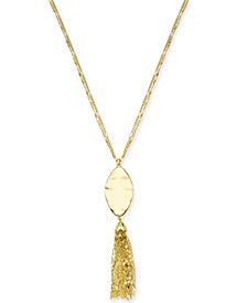 "Long Pendant Tassel  Necklace, 34"" + 3"" extender, Created for Macy's"