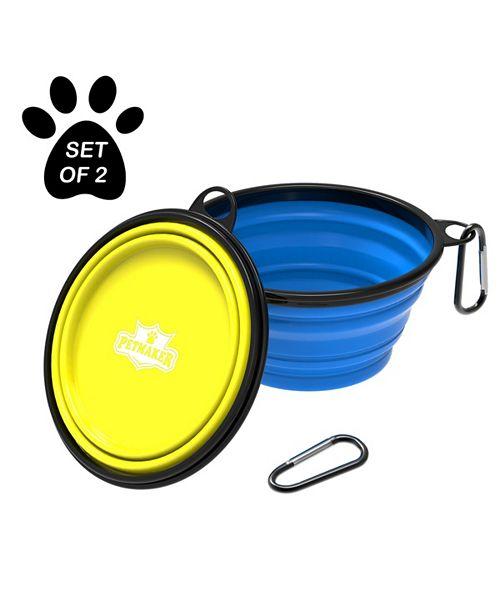 PetMaker Collapsible Pet Bowls- Set of 2