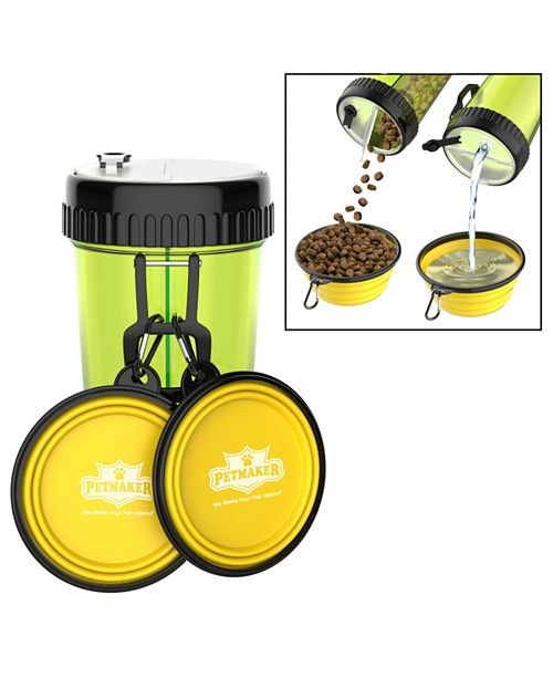 PetMaker 3-In-1 Travel Pet Feeding Containers