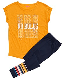 Epic Threads Big Girls No Rules T-Shirt & Striped Leggings, Created for Macy's