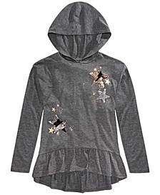 Big Girls Hooded Flip Sequin Star Top, Created For Macy's