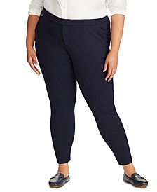 Plus Size Stretch Ponté Knit Skinny Pants