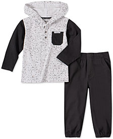 Calvin Klein Jeans Little Boys 2-Pc. Colorblocked Hoodie & Twill Joggers Set
