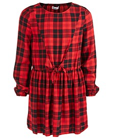 Big Girls Plaid Tie-Front Dress, Created For Macy's