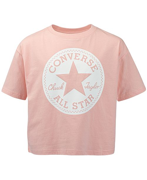 Converse Big Girls Cotton Logo T-Shirt
