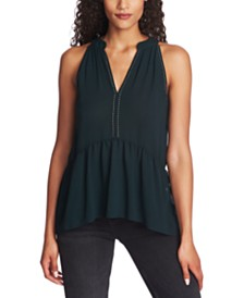 1.STATE Studded Halter-Neck Top