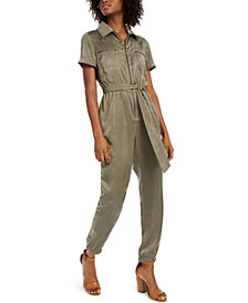 Bar III Zip-Front Jumpsuit, Created for Macy's
