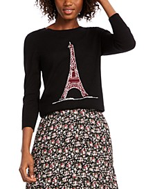 Eiffel Tower Sequin Sweater, Created for Macy's