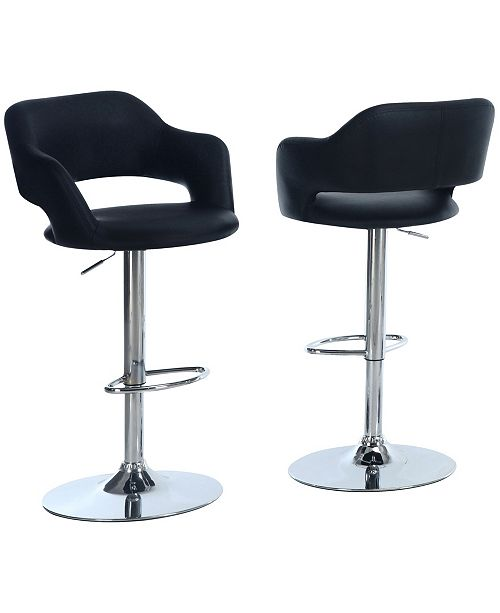 Monarch Specialties Leather Look Bar Stool