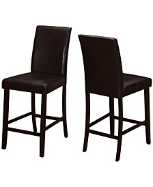 Leather-Look Counter Height 2 Piece Dining Chair Set