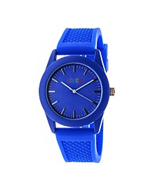 Crayo Unisex Storm Blue Silicone Strap Watch 40mm