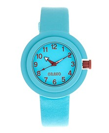 Unisex Equinox Cerulean Leatherette Strap Watch 40mm