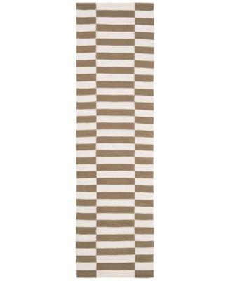 "Ludlow Stripe LRL7350C Sepia 2'3"" X 8' Runner Area Rug"