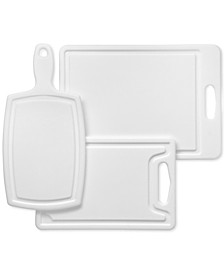 3-Pc Poly Cutting Board Set