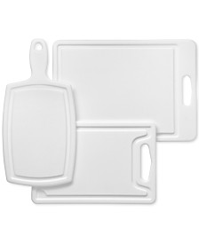 Chicago Cutlery 3-Pc Poly Cutting Board Set