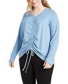 Plus Size Front-Ruched Top, Created for Macy's