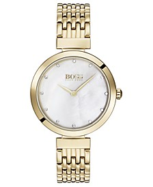 Women's Celebration Gold Ion-Plated Stainless Steel Bracelet Watch 30mm