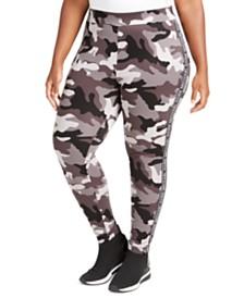 Michael Michael Kors Plus Size Camo Print Logo Leggings