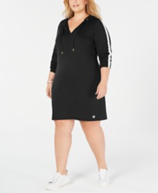 Michael Michael Kors Plus Size Striped Dress