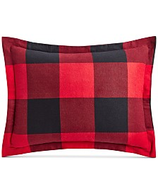 Martha Stewart Collection Buffalo Plaid Flannel Standard Sham, Created for Macy's