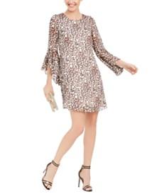 I.N.C. Animal-Print Shift Dress, Created for Macy's