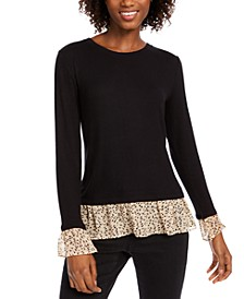 Printed Ruffle Top, Created For Macy's