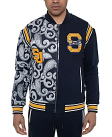 Men's Varsity Paisley Panther Colorblocked Track Jacket