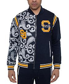 Sean John Men's Varsity Paisley Panther Colorblocked Track Jacket