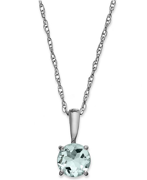 white gold in bezel round aqua solitaire set necklaces marine p necklace m aquamarine