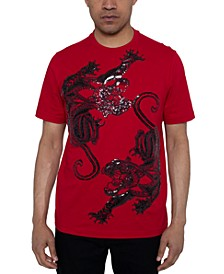 Men's Panther Dance Sequin Graphic T-Shirt