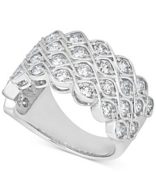 Diamond Lattice-Look Cluster Ring (1-1/2 ct. t.w.) in 14k White Gold