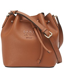 Noho Leather Drawstring Bucket Bag, Created for Macy's