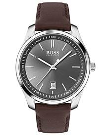 Men's Circuit Brown Leather Strap Watch 42mm