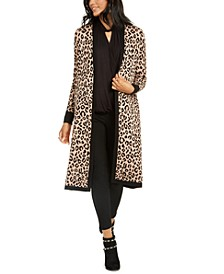 Printed Open-Front Longline Cardigan, Created for Macy's