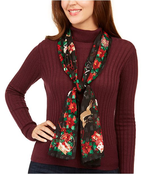 Charter Club Merry And Bright Oblong Scarf, Created for Macy's