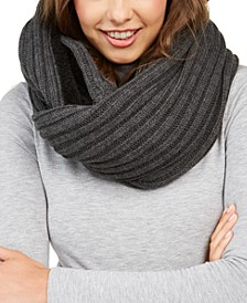 Fleece-Lined Knit Infinity Scarf