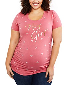 Hey Girl™ Plus Size Graphic Tee
