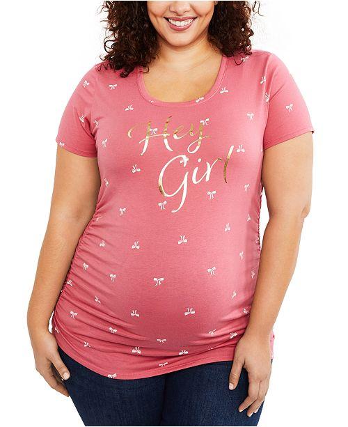 Motherhood Maternity Hey Girl™ Plus Size Graphic Tee