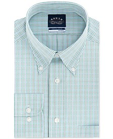 Men's Big & Tall Classic/Regular Fit Non-Iron Stretch-Collar Check Dress Shirt