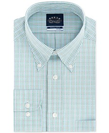 Eagle Men's Big & Tall Classic/Regular Fit Non-Iron Stretch-Collar Check Dress Shirt