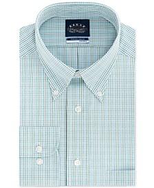Eagle Men's Big & Tall Classic/Regular Fit Non-Iron Stretch-Collar Check Dress Shirt