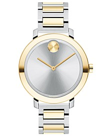 Women's Evolution Swiss Bold Two-Tone Stainless Steel Bracelet Watch 34mm