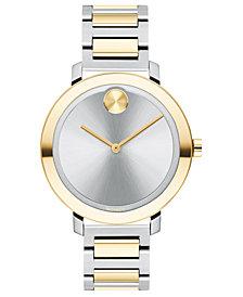 Movado Women's Evolution Swiss Bold Two-Tone Stainless Steel Bracelet Watch 34mm