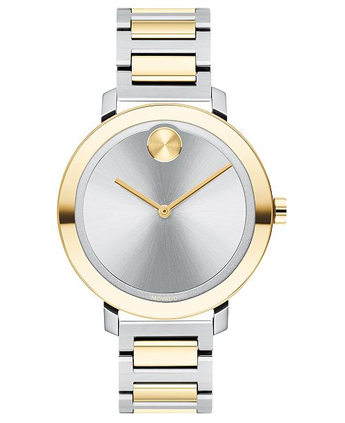 Movado Women's Evolution Swiss Bold Two-Tone Stainless Steel Bracelet Watch 34mm