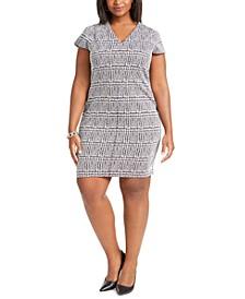 Plus Size Plaid Sheath Dress