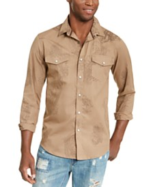 American Rag Men's Western Paisley Shirt, Created For Macy's