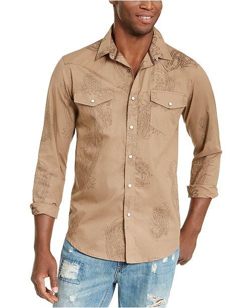 American Rag Men's Western Paisley Shirt, Created For Macy's