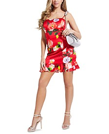 Hailey Floral-Print Ruffled-Hem Dress