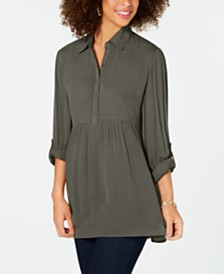 Style & Co Petite Babydoll Tunic Shirt, Created for Macy's