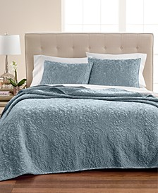 Velvet Flourish Quilt & Sham Collection, Created for Macy's